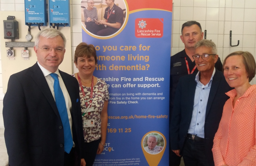 Mark Menzies MP at a Fylde Coast Dementia Hub event