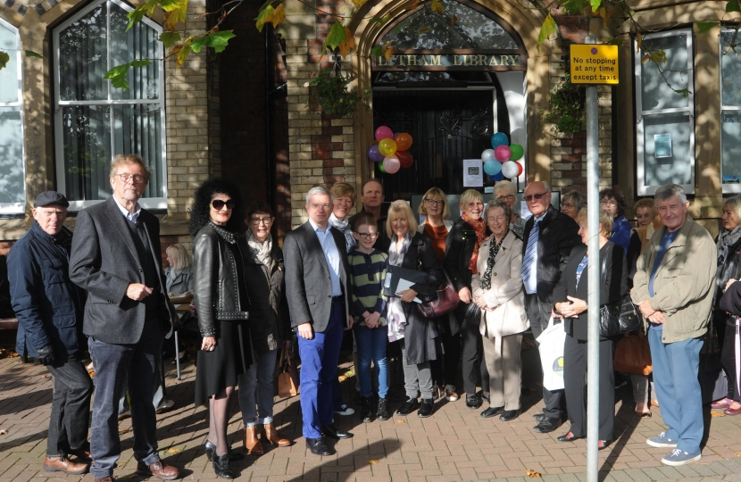 Fylde MP Mark Menzies with the Friends of Lytham Library and Institute