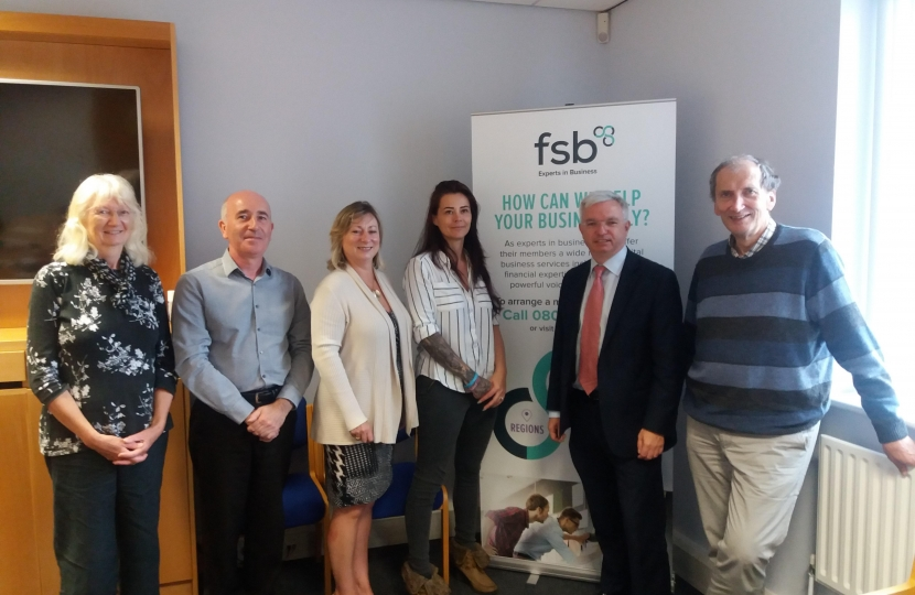 Mark Menzies MP meets business owners at the Federation of Small Businesses