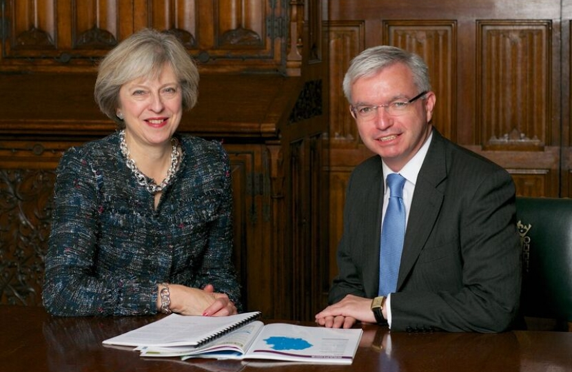 Prime Minster Theresa May with Mark Menzies MP