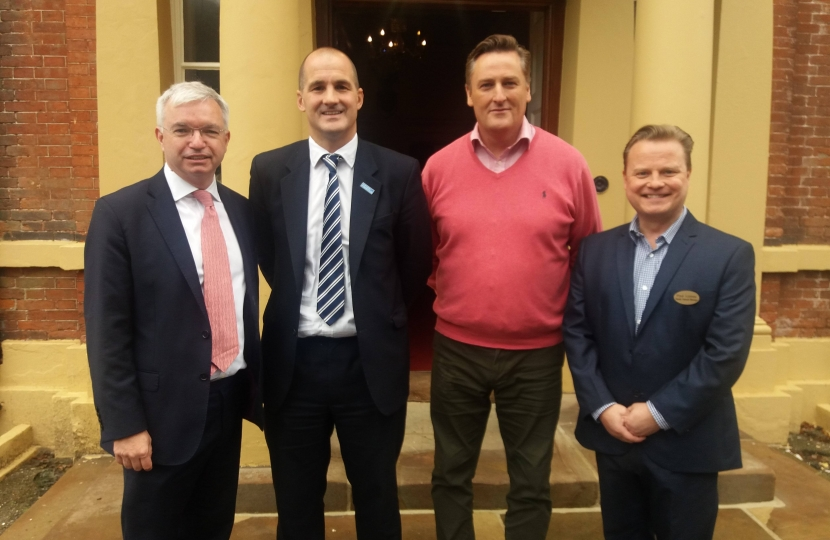 Fylde MP Mark Menzies on a previous visit to Lytham Hall with Northern Powerhouse minister Jake Berry and Hall general manager Peter Anthony and deputy manager Paul Lomax