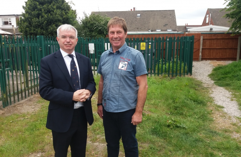 Mark Menzies MP with Cllr Tommy Threlfall in Freckleton