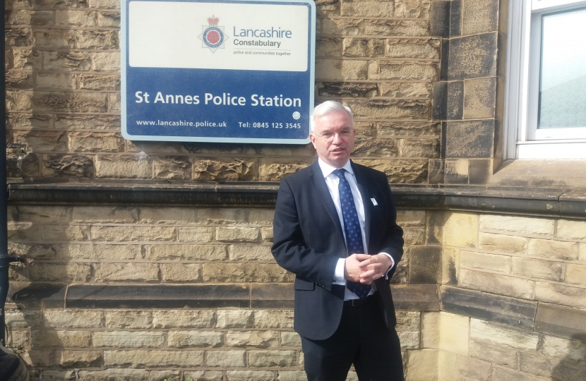Mark Menzies at St Annes Police Station