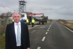 Mark Menzies MP on the M55 Link Road / Moss Road